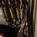 二つのパネルミシェルluxury®ロココ調花柄ジャカードは、環境にやさしいカーテンのカーテン
