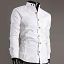 メンズカジュアルコントラストカラーコットンシャツ