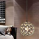 sl®現代/グローブ水晶/ミニスタイル電気メッキペンダントライト寝室/ダイニング