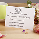 """Nepřizpůsobeno Ploché přání Svatební Pozvánky Odpovědi-12 Kusů v sadě Květinový styl Perlový papír 3 ½"""" x 5""""(9 cm*12,5 cm)"""