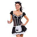 Cosplay Kostýmy Uniformy Festival/Svátek Halloweenské kostýmy Bílá / Černá Šaty / Doplňky do vlasů Halloween / Karneval Satén / Polyester