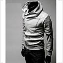 Duolunduo Muška Korejski Kos Zipper kapuljačom Casual Jacket (Gray)