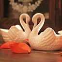 """3.5 """"White Swan Style Keramičke svijeća Dish"""