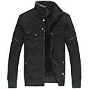AF & LF Muška Velvet podebljati pranje podstavljena Coat (crna)