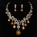 ラインストーンで魅惑的な合金宝飾含めネックレス、イヤリングセット