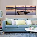 キャンバスセット / キャンバス地プリント 風景 Modern / クラシック,3枚 横長 版画 壁の装飾 For ホームデコレーション