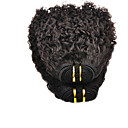 22inch 100% indické Virgin Lidské vlasy Afro Kinky Natural Black Dyeable Great 5a Hair Extension / Weave