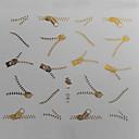 Prijenos 1kom Zlatni Zipper uzorak vode za ispis Šarene Nail Sticker