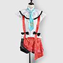 Inspirirana Ljubav uživo Eri Ayase Video igra Cosplay nošnje Cosplay Suits / School Uniforms Kolaž Bijela / Crvena Bez rukavaTop / Suknja