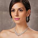 lijepo češki dijamanata legure presvučenog vjenčanja svadbeni nakit set, uključujući i ogrlicu i naušnice