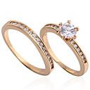 Yueli Dámské 18K Gold Zirkon prsten J0032