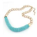Dámské barevné Knit náhrdelník