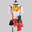 Inspirirana Ljubav uživo Honoka Kōsaka Video igra Cosplay Kostimi Cosplay Suits / School Uniforms Kolaž Bijela / Crvena Kratki rukavTop /