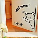 Slatka Crtani medvjed Pozdravljajući Window Naljepnice