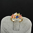 Yueli Dámské 18K Gold Zirkon prsten J0490