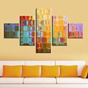 Reprodukce na plátně umění abstraktní barevné zrcadla Sada 5