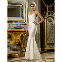 Lanting Bride® Sirena kroj Sitna / Veći brojevi Vjenčanica - Šik i moderno Svjetlucavo i blještavo / Vintage inspirirano / Čipkasti izgled