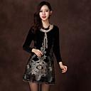 Duolabana Moda Slim Velvet Dress