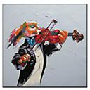 Ručno oslikane ulje na platnu životinja Glazbenik Dog