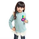 女の子のラウンドカラーセーターティー