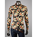 BGY Muška Veliki cvjetni print Long Sleeve Shirt