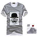 V & J Muška Round Collar Tiskano T-Shirt