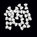 20枚の3D白色樹脂ラインストーンちょう結びネイルデコレーション