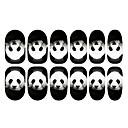 12PCS Panda vzor Světelný Nail Art Samolepky