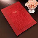červené květiny návštěvní kniha s vyraženým krytem (5 stran) podepsat v knize