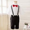 Polyester Oblek pro mládence - 4 Pieces Obsahuje Tričko / Kalhoty / Motýlek / Suspensory