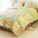 huani® deka set, 3 ks 100% bavlna ve stylu country checker vzor barevné jaro