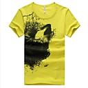 Pánská letní móda kulatý výstřih Krátký rukáv T-shirt