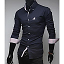 U2M2 Muška Zanimanje Navy Blue Rever Vrat Pocket Buckle Shirt