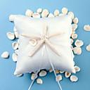 Plaža tematske zvjezdača dizajn bijelog satena prsten jastuk