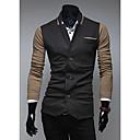 Duolunduo Muška Korejski kontrast boja Personality Blazer (crna)