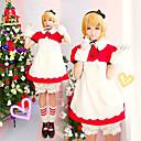 Inspirovaný Vocaloid Kagamine Rin Video Hra Cosplay kostýmy Cosplay šaty Patchwork Biały / Czerwony K šatům / Kraťasy / Vlasové ozdoby