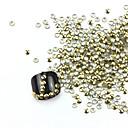 3D 300ks Golden kruhovitosti Alloy Nail Art Zlaté a stříbrné ozdoby