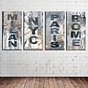 Reprodukce na plátně umění Retro Registrujte Slova a citáty Sada 4