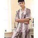 Muška Leisure kratkim rukavima Svila pidžama