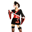 Seksi Samurai Crna Polyester Ženska Halloween Party Kostim