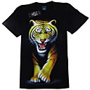 3D Muška ljeto 3D grafike Tiger Pattern kratki rukav T Shirt