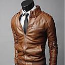 Ležérní Stojací límec - Dlouhé rukávy - MEN - Coats & Jackets ( PU kůže )