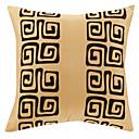 伝統的な黄色のポリエステル装飾的な枕カバー