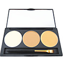 3 Farb 5in1 Profi Concealer Foundation Rouge Bronzer Make-up kosmetische Palette mit Spiegel und Pinsel-Set