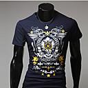 Mark Muška Bodycon cvjetni print kratki rukav T-Shirt