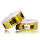 500ks Zlaté Podkovy vzor Nail Art Forms akrylátových a UV Gel Tipy