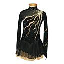 Klizačke haljine Žene / Za djevojčice Dugi rukav Skating Haljine i suknje Umjetničko klizanje prerušiti Spandex Crn Odjeća za klizanje