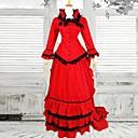 Jednodijelni/Haljine / Kostimi Sluškinje Classic/Tradicionalna Lolita Viktoriánus Cosplay Lolita Haljine Srebrna Vintage Dugi rukavDugi