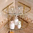 金メッキ真鍮素材の浴室のシャワーのバスケット