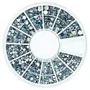 120個ミックス4サイズブリンブリンクリスタルABアクリルラインストーンホイールネイルアートの装飾